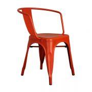 Tolix Metal Kollu Sandalye Kırmızı