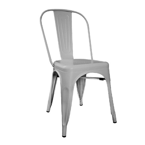 Tolix Metal Sandalye Gümüş