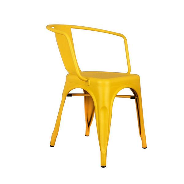 Tolix Metal Kollu Sandalye Sarı